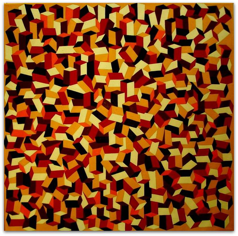 Frits Stiemer, Dutch painter, kubusvormen